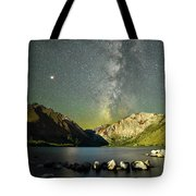 Mars And The Milky Way Tote Bag