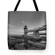 Marshall Point Lighthouse Reflections Tote Bag