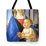Mary With Baby Jesus Tote Bag