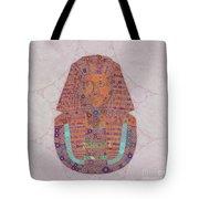 Mask Of Tutankhamun, Pop Art By Mb Tote Bag