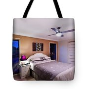 Master Bedroom At Twilight Tote Bag