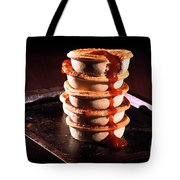 Meat Pies With Sauce And High Contrast Lighting. Tote Bag