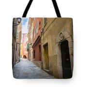 Medieval Street In Villefranche-sur-mer Tote Bag
