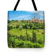 Medieval Town Of San Gimignano, Tuscany, Italy Tote Bag