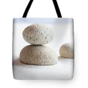 Meditation Stones On White Sand Tote Bag