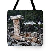 Megalithic Taula In Binisafua Menorca Bronze Age Tote Bag