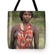 member of the Bena Tribe, Omo Valley Tote Bag