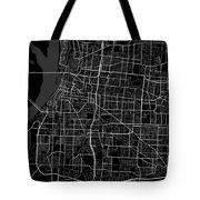 Memphis Tennessee Usa Dark Map Tote Bag