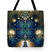 Metallic Butterfly Tote Bag