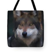 Mexican Grey Wolf Da Tote Bag