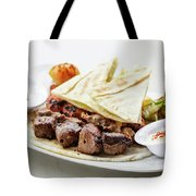 Middle Eastern Food Mixed Bbq Barbecue Grilled Meat Set Meal Tote Bag