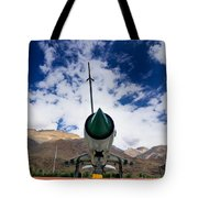 Mig-21 Fighter Plane Of Indian Air Force Used In Kargil War Displayed As Victorious Memory Tote Bag