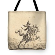 Military Commander On Horseback Tote Bag