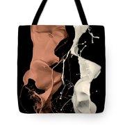 Milk And Liquid Chocolate Splash Tote Bag