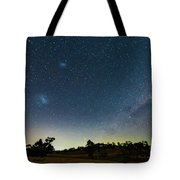 Milky Way And Countryside Tote Bag