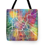 Minneapolis Minnesota City Map Tote Bag
