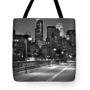 Minneapolis Skyline From Stone Arch Bridge Tote Bag