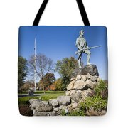 Minute Man Sculpture Tote Bag