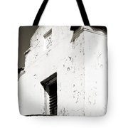 Mission Stucco Building Tote Bag