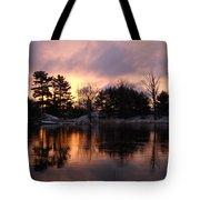 Mississippi River Dawn Light Tote Bag