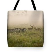 Misty Morning On The Savannah Tote Bag