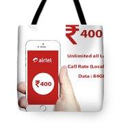 Mobile Recharge Online  Online Bill Payment  10digi Tote Bag