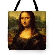 Mona Lisa Portrait Tote Bag
