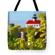 Monarch At East Point Light Tote Bag