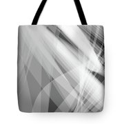 Monochrome White Abstract Vector Background, Gray Transparent Wa Tote Bag
