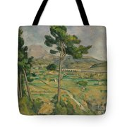 Mont Sainte-victoire And The Viaduct Of The Arc River Valley Tote Bag