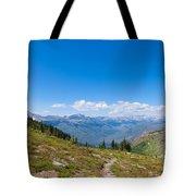 Montana-glacier National Park-highline Trail Tote Bag