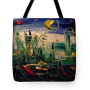 Moon City Tote Bag