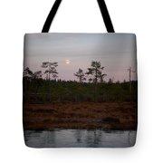Moon Over Wetlands Tote Bag