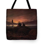 Moon Rising Over The Sea Tote Bag