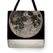 Moon Surface By John Russell Tote Bag