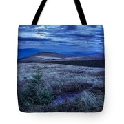 Moonlight On Stone Mountain Slope With Forest Tote Bag
