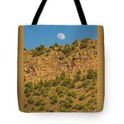 Moonrise Rio Grande Gorge Pilar New Mexico Tote Bag