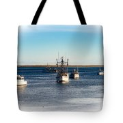 Moored In Chatham Harbor Tote Bag