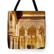 Moorish Architecture In The Nasrid Palaces At The Alhambra Granada Tote Bag