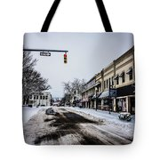 Moresville North Carolina Streets Covered In Snow Tote Bag