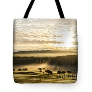 Morning At Golf Course Tote Bag