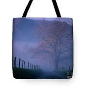 Morning Fog, #1, Smoky Mountains, Tennessee Tote Bag
