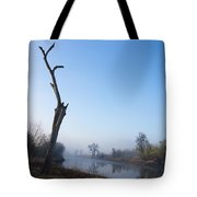 Morning On Red River Tote Bag