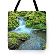 Mossy Moine Falls Tote Bag