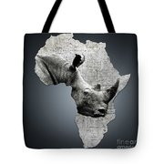 Mother Africa With A Rhino  Tote Bag
