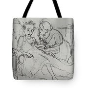 Mother With Sick Child 1878 Fig 29 9h22 6 Tg Vasily Perov Tote Bag