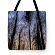 Motion Blurred Trees In A Forest Tote Bag