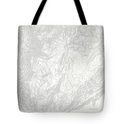 Mount Kosciuszko Art Print Contour Map Of Mount Kosciuszko In Au Tote Bag