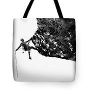 Mountain Climber-black Tote Bag