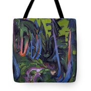 Mountain Forest Path Tote Bag